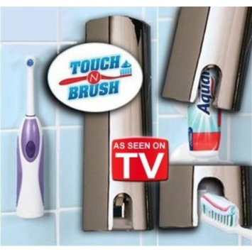 As Seen On TV Touch N Brush Hands Free Tooth Paste Dispenser Chrome