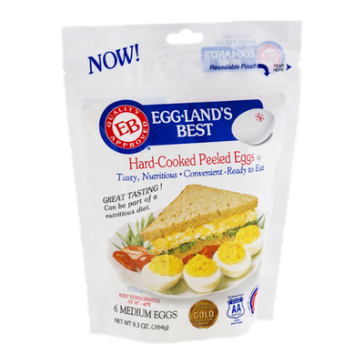 Eggland's Best Hard Cooked Peeled Eggs - 6 CT