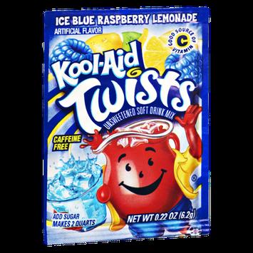 Kool-Aid Twists Ice Blue Raspberry Lemonade Caffeine Free Unsweetened Soft Drink Mix