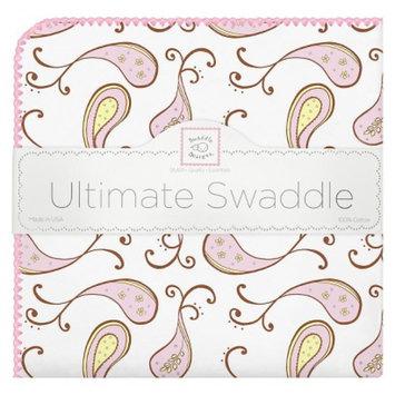 Swaddle Designs Ultimate Receiving Blanket - Paisley, Pastel Pink