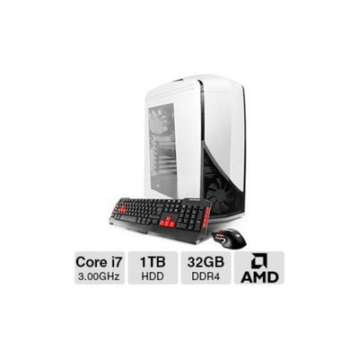 iBUYPOWER TD787XLC Gaming PC - Intel Core i7-5960X 3.00GHz, 32GB DDR4 Memory, 1TB HDD, 256GB SSD, Blu-ray, 3GB AMD Radeo