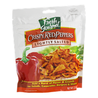 Fresh Gourmet Crispy Red Peppers Lightly Salted