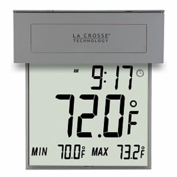 La Crosse Technology Solar Window Thermometer with Backlight