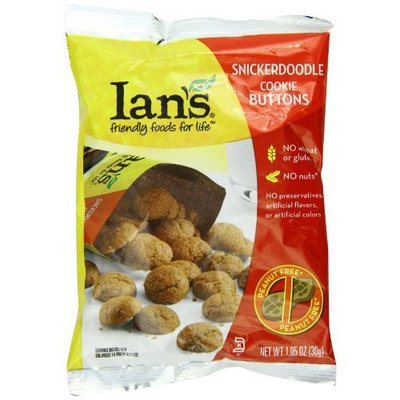 Ian's Natural Foods Snickerdoodle Cookie Buttons 6.35 Ounce Pouches (Pack of 6)