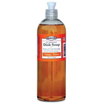 Bayes Dish Soap, Orange Citurs, 16 Ounce Bottle, (Pack of 2)