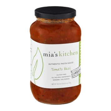 Mia's Kitchen Authentic Pasta Sauce Tomato Basil