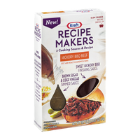 Kraft Recipe Makers Cooking Sauces Slow Cooker Recipe Hickory BBQ Beef
