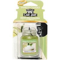 Yankee Candle Car Gel Odor Eliminating Hanging Air Freshener, Vanilla Lime Scent