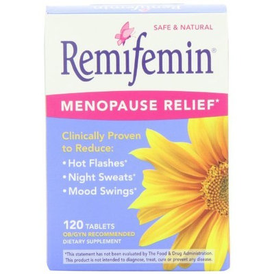 Remifemin Menopause Herbal Supplement, Estrogen Free, 120 Tablets