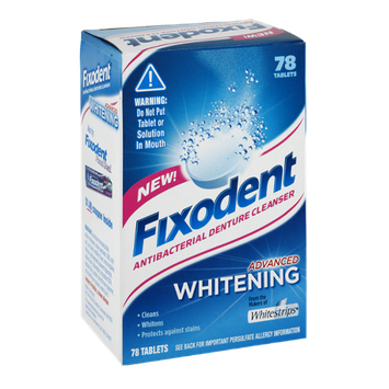 Fixodent Advanced Whitening Antibacterial Denture Cleanser