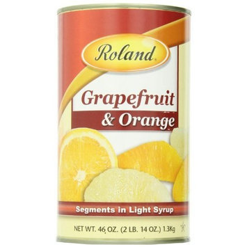 Roland Grapefruit and Orange Segments in Light Syrup, 46-Ounce Cans (Pack of 3)