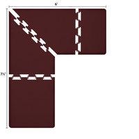 WellnessMats PuzzlePiece Collection: 3' Burgundy Antifatigue Mat, L-Sh