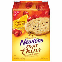 Nabisco Newtons Fruit Thins Cranberry Citrus Oat Crispy Cookies