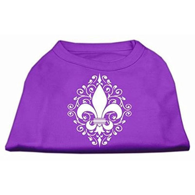 Mirage Pet Products 51-84 XXXLPR Henna Fleur De Lis Screen Print Shirt Purple XXXL - 20