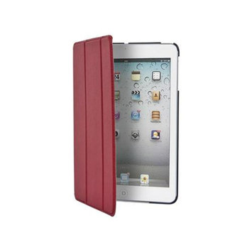 Monoprice Synthetic Leather Stand/Cover with Magnetic Latch for iPad mini w/ Retina Display - Red