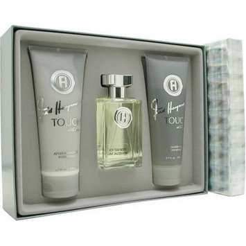 Touch With Love By Fred Hayman For Men. Set-edt Spray 3.4 OZ & Aftershave Balm 6.7 OZ & Shower Gel 6.7 OZ