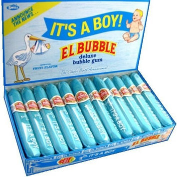 Its A Boy El Bubble Gum It's a BOY Classic Birth Announcement Bubble Gum Cigar (Pack of 36)