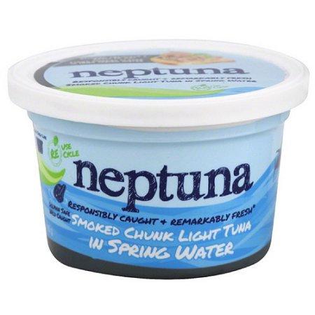 Neptuna Smoked Chunk Light Tuna in Spring Water, 5.2 oz, (Pack of 12)