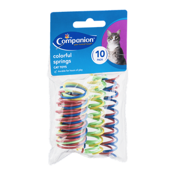Companion Cat Toy Colorful Springs - 10 CT