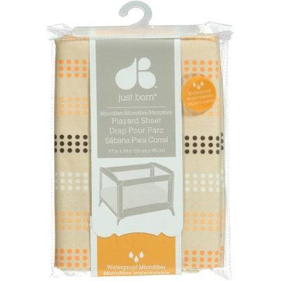 Just Born Playard Sheet - Dot Stripe - Tan