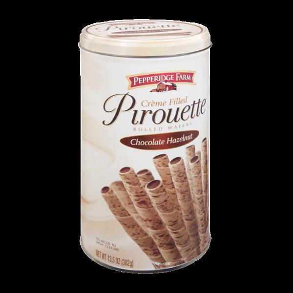 Pepperidge Farm Chocolate Hazelnut Creme Filled Pirouette Rolled Wafers