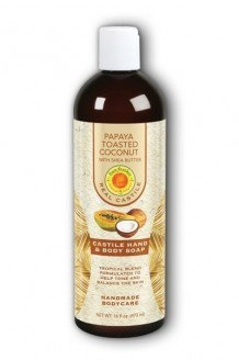 Papaya Toasted Coconut Liquid Castle Soap Sunfeather 16 oz Liquid