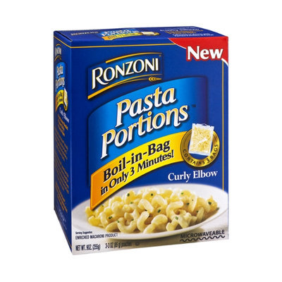 Ronzoni Pasta Portions Enriched Macaroni Product Curly Elbow Boil-in-Bag - 3 CT