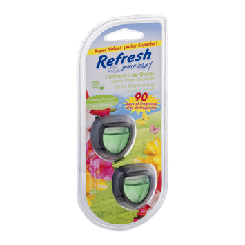 Refresh Your Car! Odor Eliminating Scented Oil Diffuser Fresh Spring Air - 2 CT
