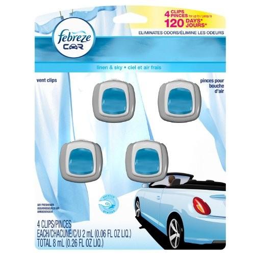 Febreze Car Clip Air Freshner 4 Pack Hawaiian Aloha Scent []