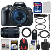 Canon EOS Rebel T5i Digital SLR Camera & EF-S 18-135mm IS STM with 75-300mm III & 500mm Lenses + 32GB Card + Backpack + Battery + Monopod + Kit
