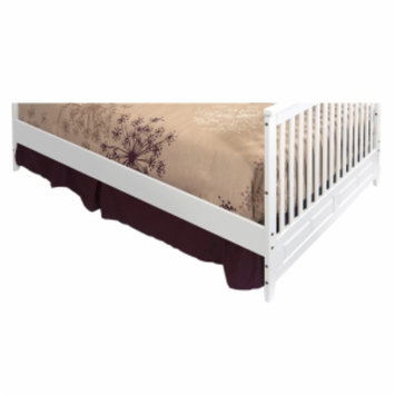 Child Craft Full Size Bed Rails for Logan Lifetime Convertible Crib, Matte White, 1 ea