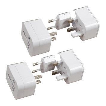 Travelon Universal Adapter Plug White (2-Pack) Universal Adapter Plug