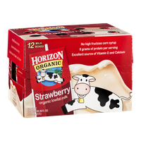 Horizon Organic Lowfat Milk Strawberry - 12 CT