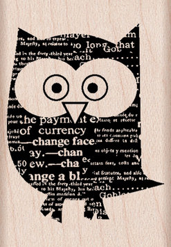 Hero Arts Rubber Stamps Hero Arts Newspaper Owl Mounted Rubber Stamps