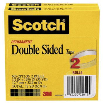 Scotch Double-Sided Tape - 2 Per Pack
