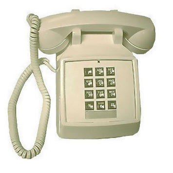 Cortelco ITT-2500-MC-Ivory Desk Phone