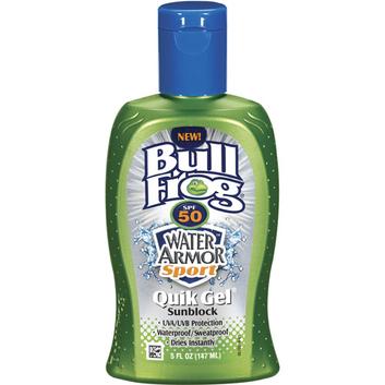 BullFrog Water Armor Quik Gel SPF50 Sunscreen