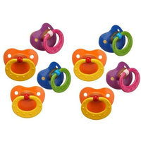 NUK 8 Pack Classic Latex BPA Free Pacifier, Size 3, Colors May Vary (8 Pack)