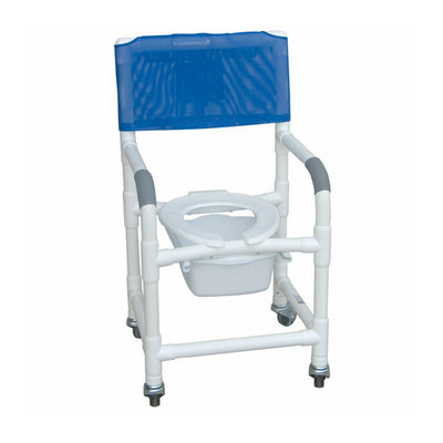 MJM International Standard Deluxe Shower Chair with Slide Out Commode Pail