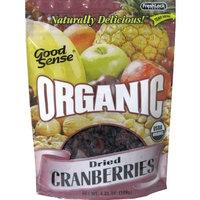Good Sense Organic Cranberries, 4.25 Ounce Bags (Pack of 6)