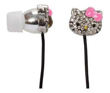 Hello Kitty Rhinestone Earbuds With Bow Mic HKBL1010 WM H3C0DI804-1612