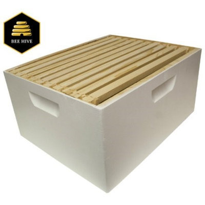 Harvest Lane Honey Beehive Deep Brood Box Complete with 10 Frames & Foundation; 16-1/4 in. x 19-7/8 in. x 9-1/2 in.