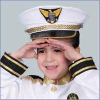 Dress Up America H231-NavyHat Navy Admiral Hat - Size Kids