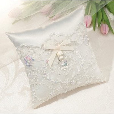 Lillian Rose Collection Ivory Sequin Lace Ring Pillow