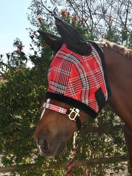 Horseloverz Kensington Protective Fly Mask with Ears - Fleece Trim