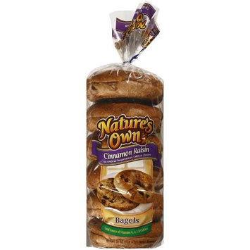 Nature's Own Cinnamon Raisin Pre-Sliced Bagels, 6ct