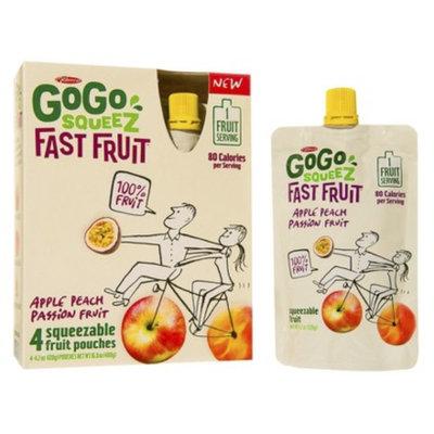 GoGo SQUEEZ FAST FRUIT APPLE PEACH PASSION FRUIT POUCHES