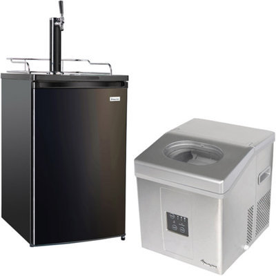 Magic Chef Keg Cooler and Icemaker Bundle for Home Bars and Man Caves