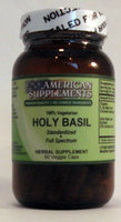 Holy Basil No Chinese Ingredients American Supplements 60 VCaps