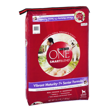 Purina One SmartBlend Vibrant Maturity 7+ Senior Formula Adult Dog Food